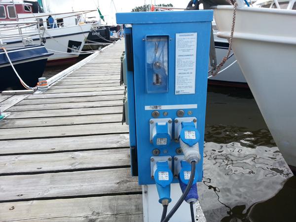 Muntautomaten voor electra.